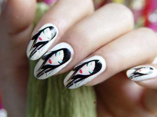 Ногти с рисунками людей